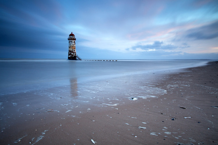 Sunrise at Point of Ayr Lighthouse